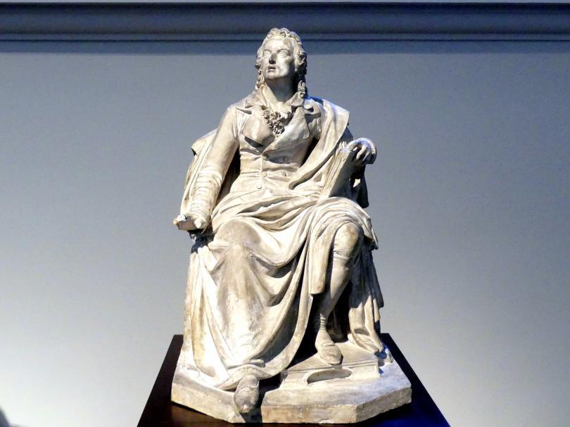 Ernst Rietschel: Friedrich von Schiller. Entwurf zum Sitzbild für das erste Dresdner Hoftheater, 1841