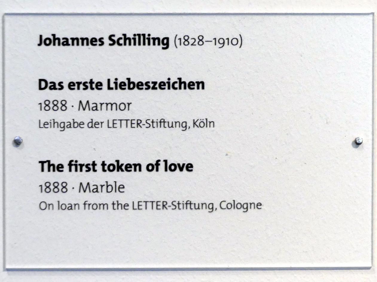 Johannes Schilling: Das erste Liebeszeichen, 1888, Bild 3/3