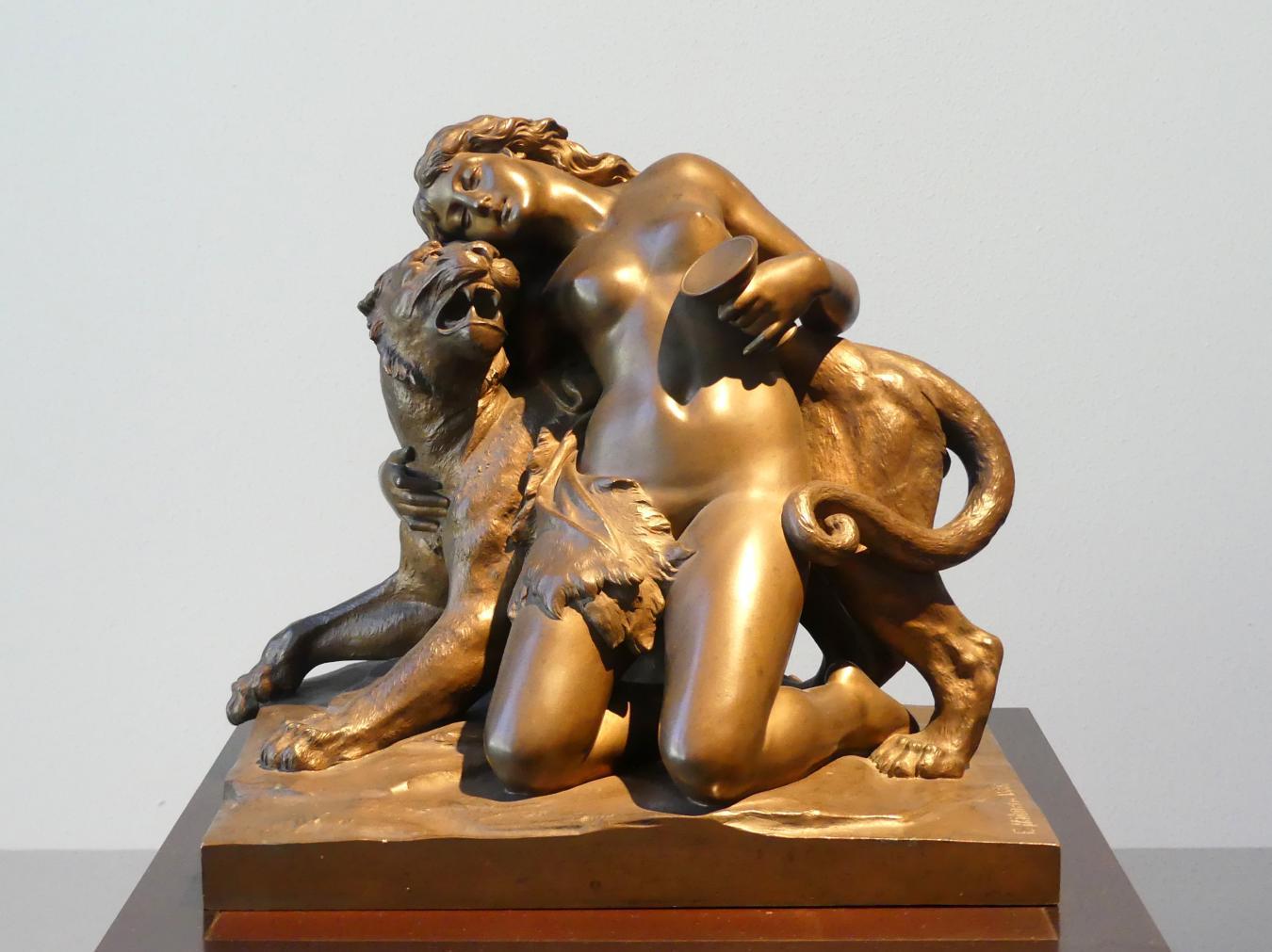 Ernst Julius Hähnel: Mänade auf Panther, 1886
