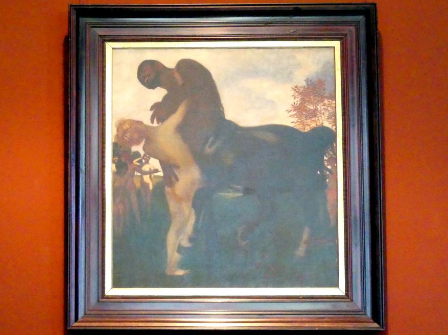 Franz von Stuck: Centaur und Nymphe, 1895
