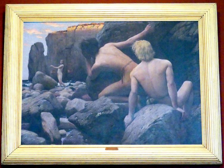 Hans Unger: Hirten am Meer, 1893