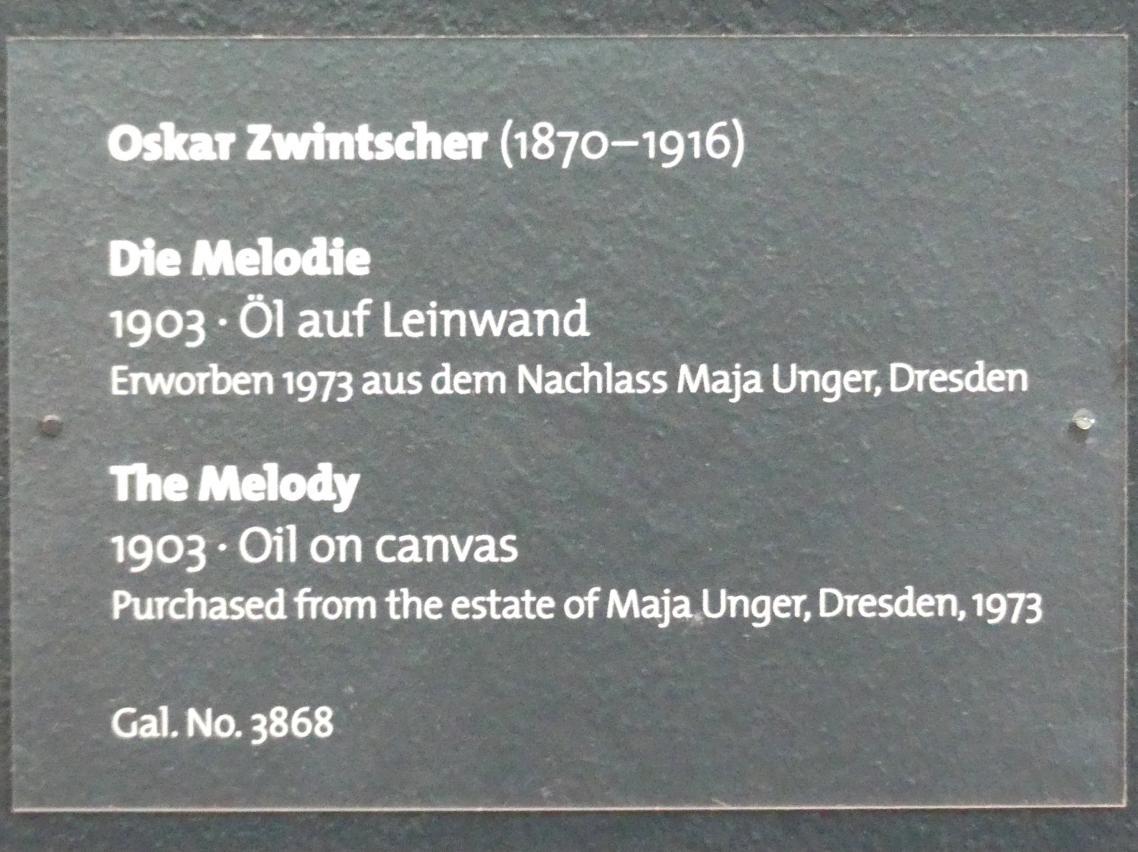 Oskar Zwintscher: Die Melodie, 1903, Bild 2/2