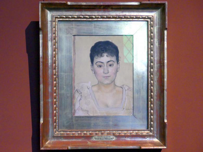 Ferdinand Hodler: Bildnis Madame de R., 1893