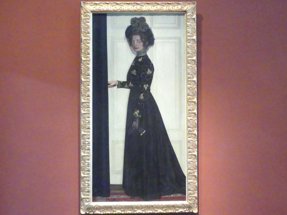 Oskar Zwintscher: Bildnis der Gattin des Künstlers, 1902