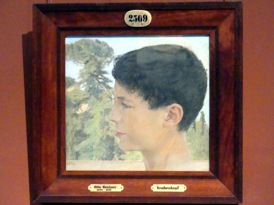 Otto Gretner: Knabenkopf, 1899