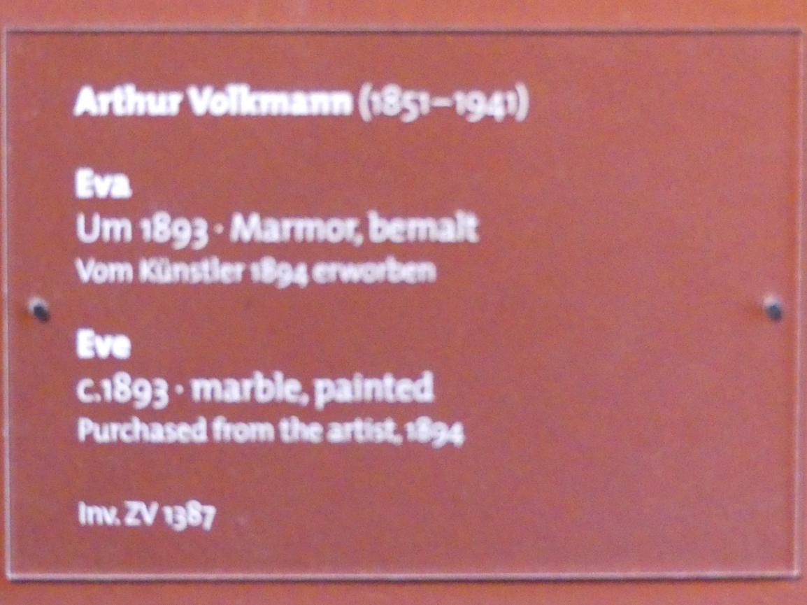 Artur Volkmann: Eva, um 1893, Bild 2/2