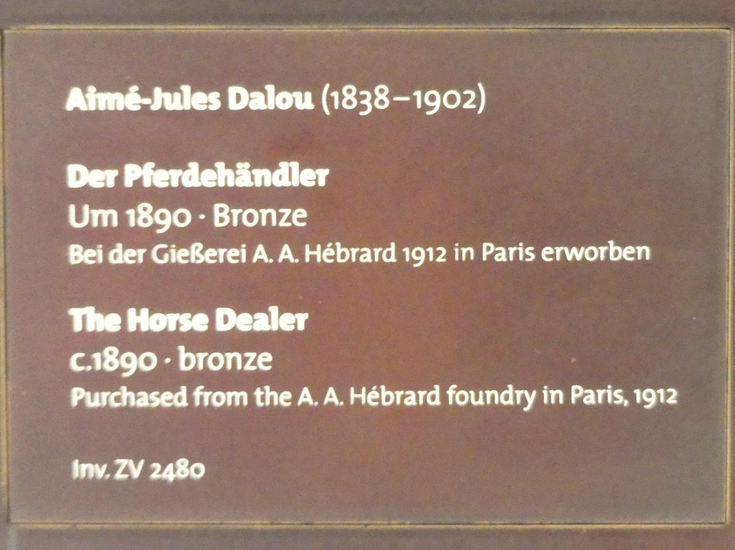 Aimé-Jules Dalou: Der Pferdehändler, um 1890, Bild 3/3