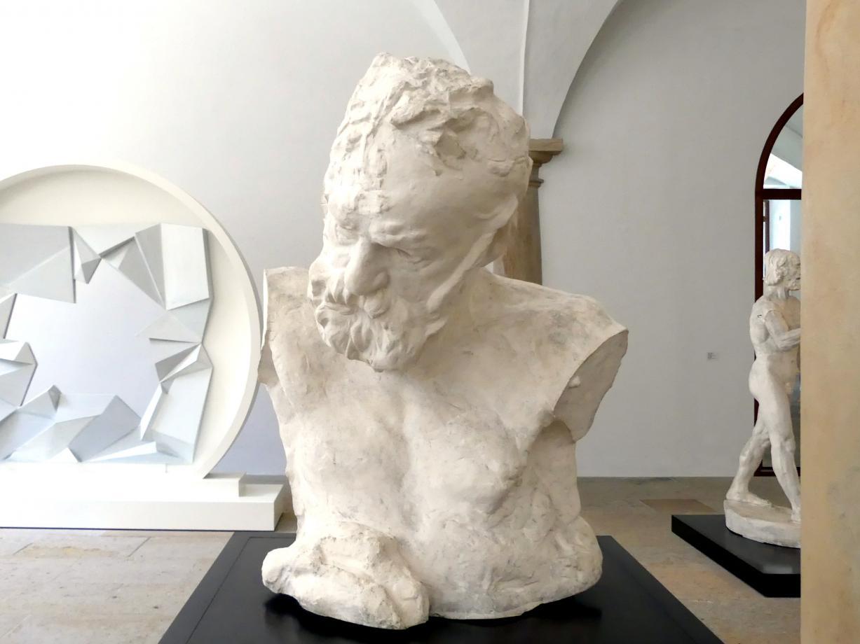"""Auguste Rodin: Victor Hugo """"Heroische Büste"""", 1896"""