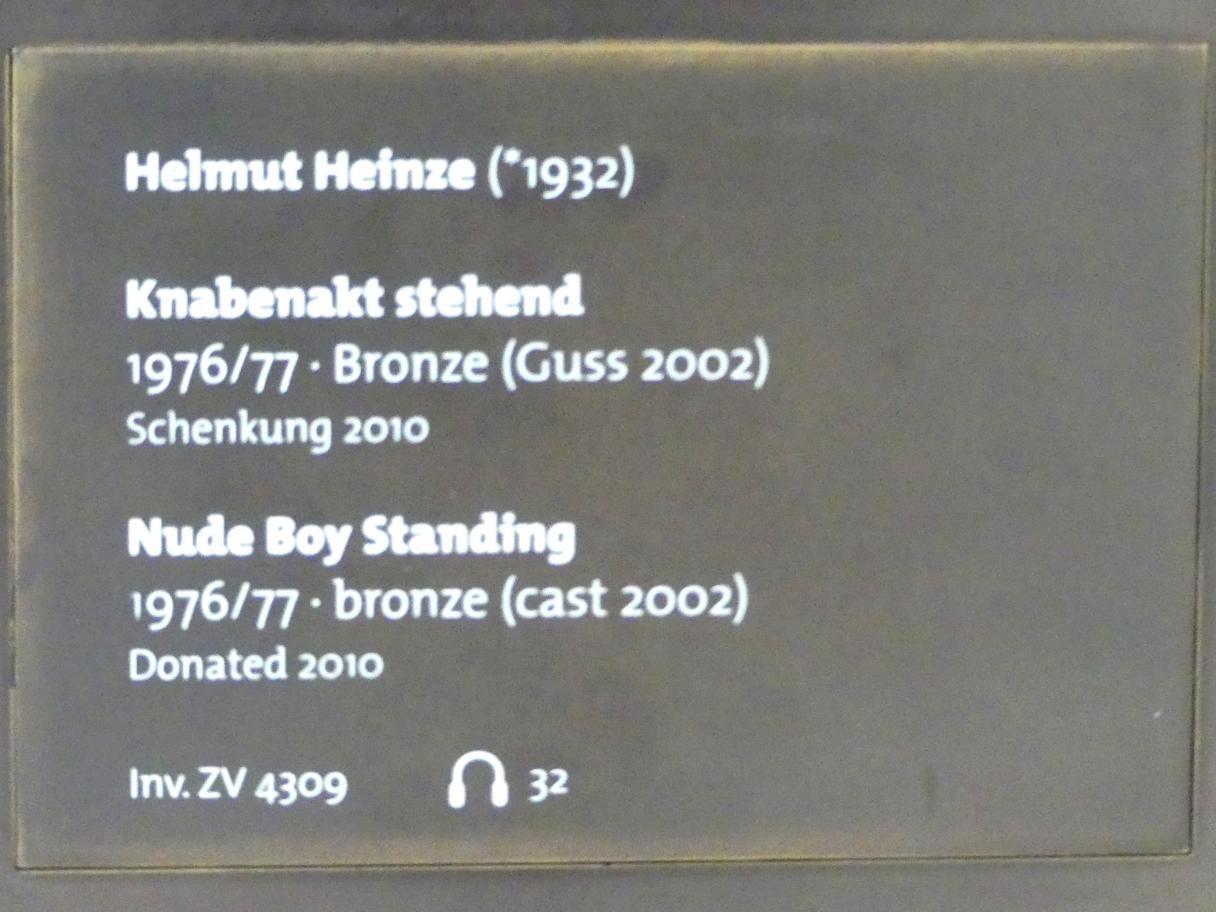 Helmut Heinze: Knabenakt stehend, 1976 - 1977, Bild 4/4