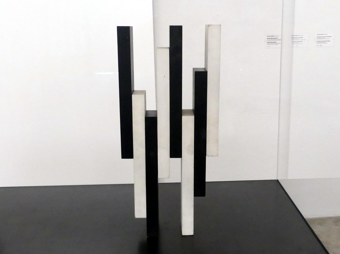 Hermann Glöckner: Vier schwarze und vier weiße Rechtkante, 1960