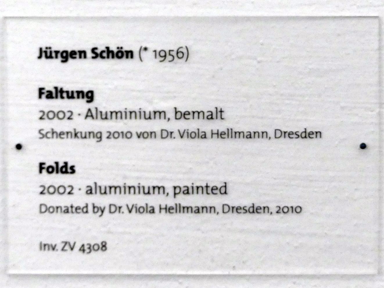 Jürgen Schön: Faltung, 2002