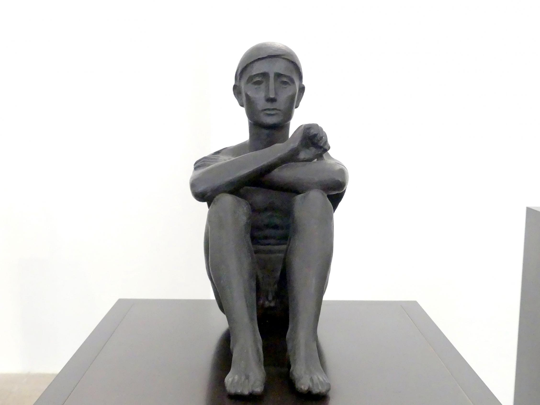 Hermann Blumenthal: Sitzender mit Tuch (Campagnahirt), 1937