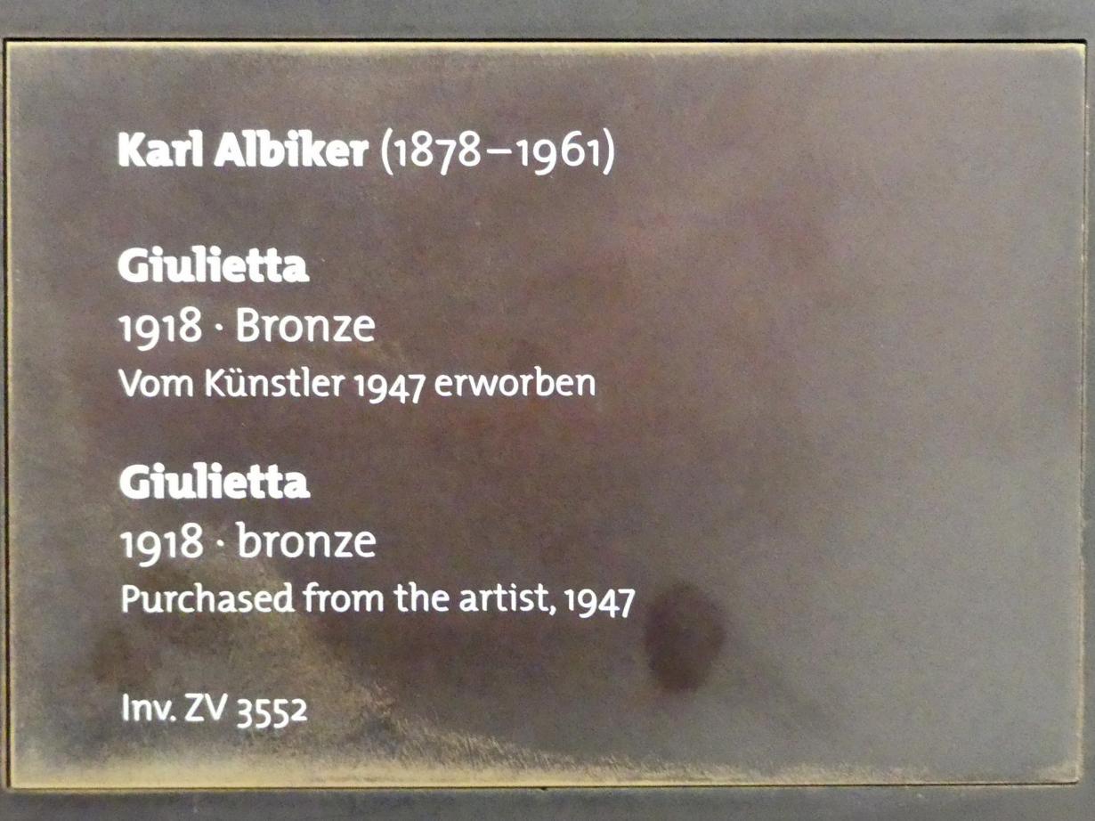 Karl Albiker: Giulietta, 1918, Bild 4/4