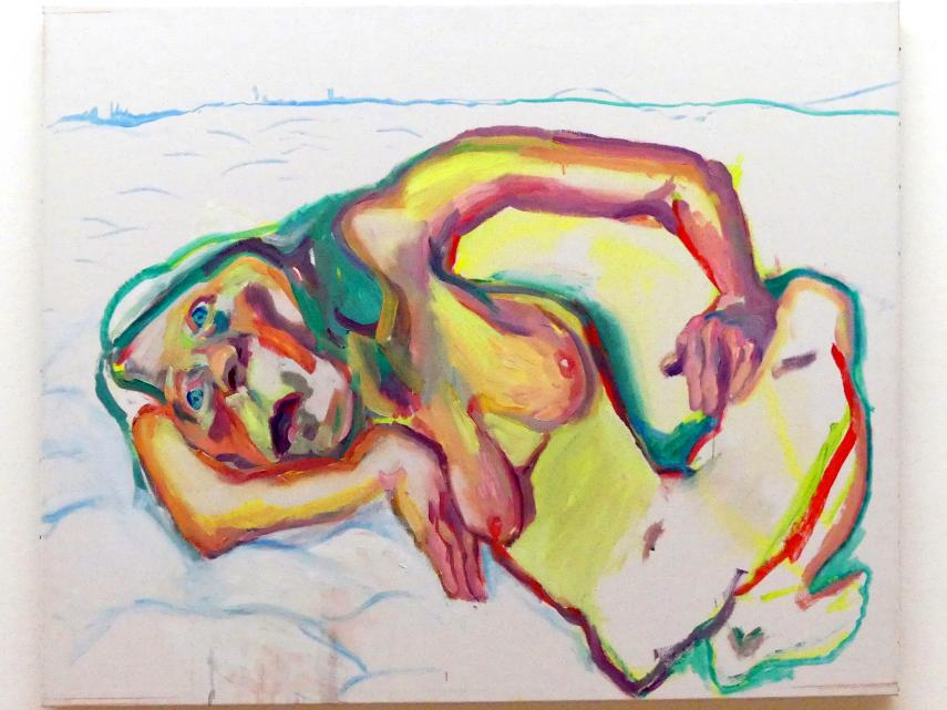 Maria Lassnig: Selbstportrait im Schnee, 2002