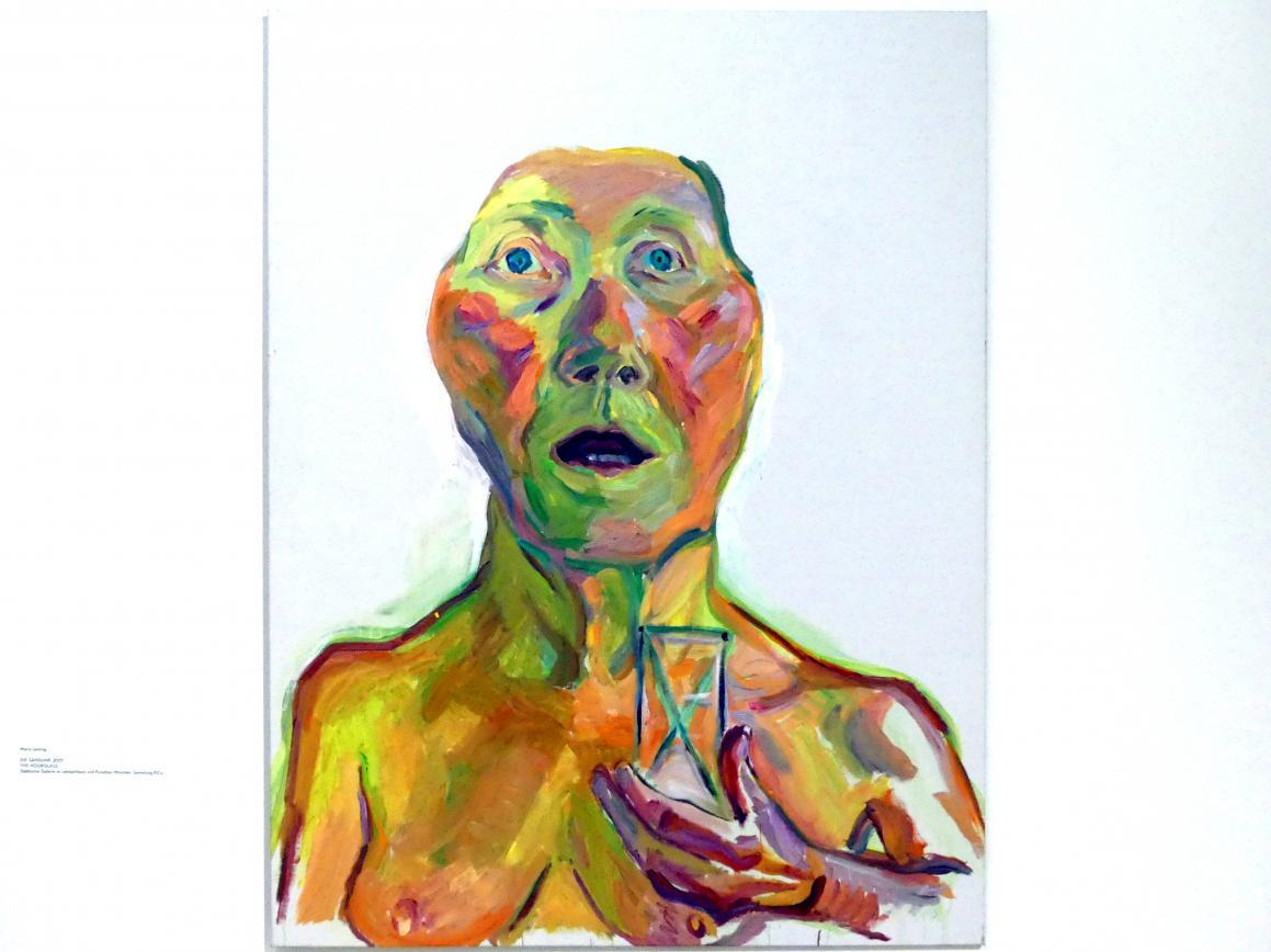Maria Lassnig: Die Sanduhr, 2001