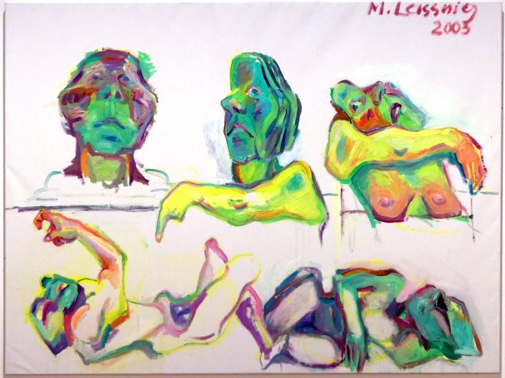 Maria Lassnig: Grüne Köpfe, 2003
