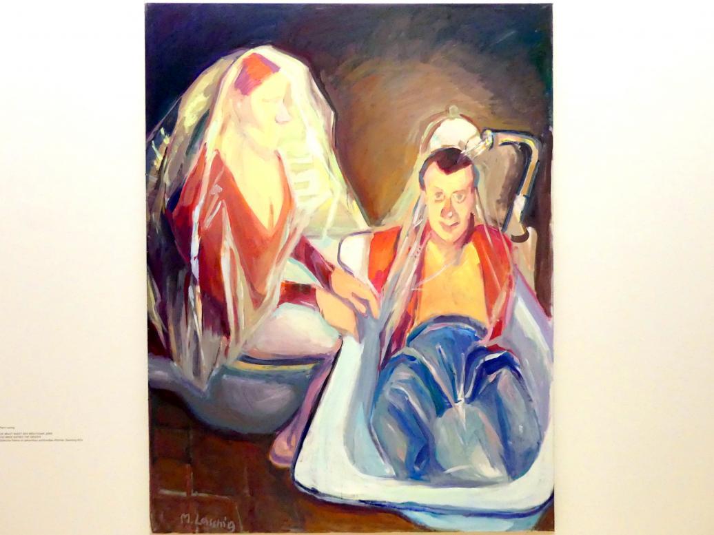 Maria Lassnig: Die Braut badet den Bräutigam, 2005