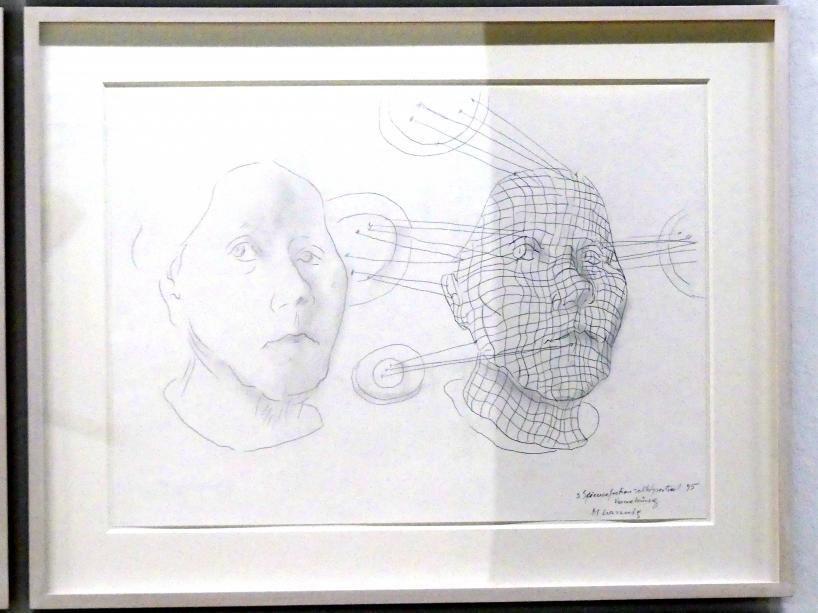 Maria Lassnig: 3. Sciencefictionselbstportrait / Vernetzung, 1995