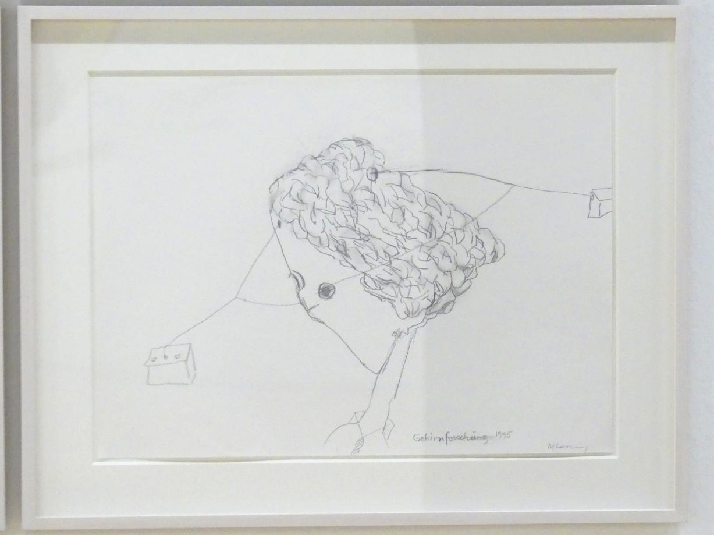 Maria Lassnig: Gehirnforschung, 1995