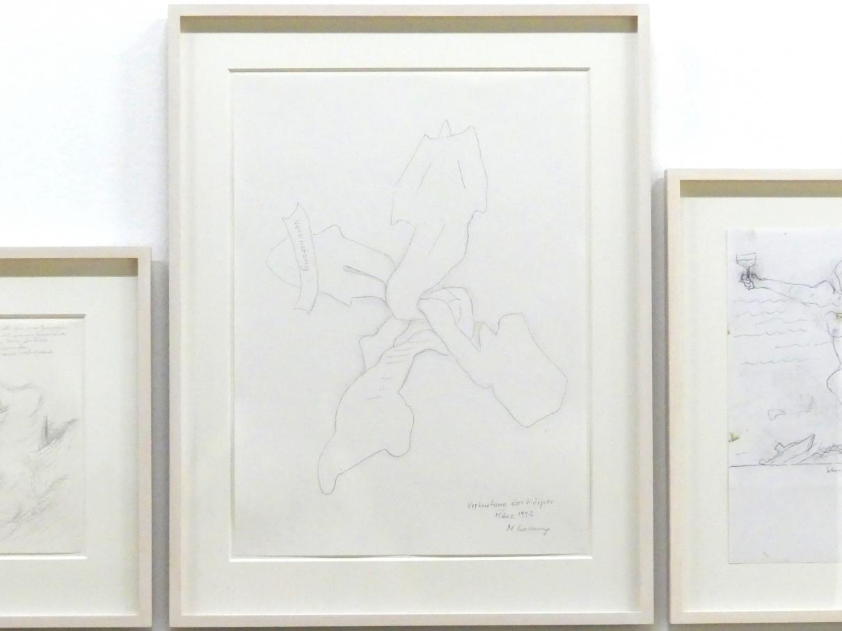 Maria Lassnig: Verknotung der Körper, 1992