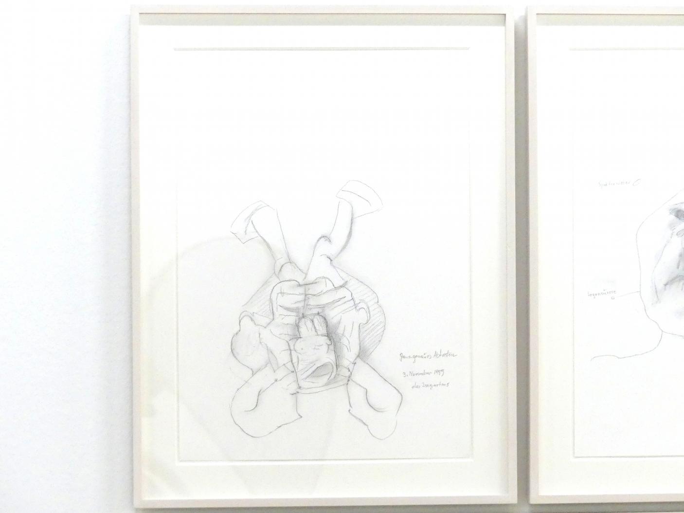 Maria Lassnig: Ganz genaues Abtasten des Irrgartens, 1999