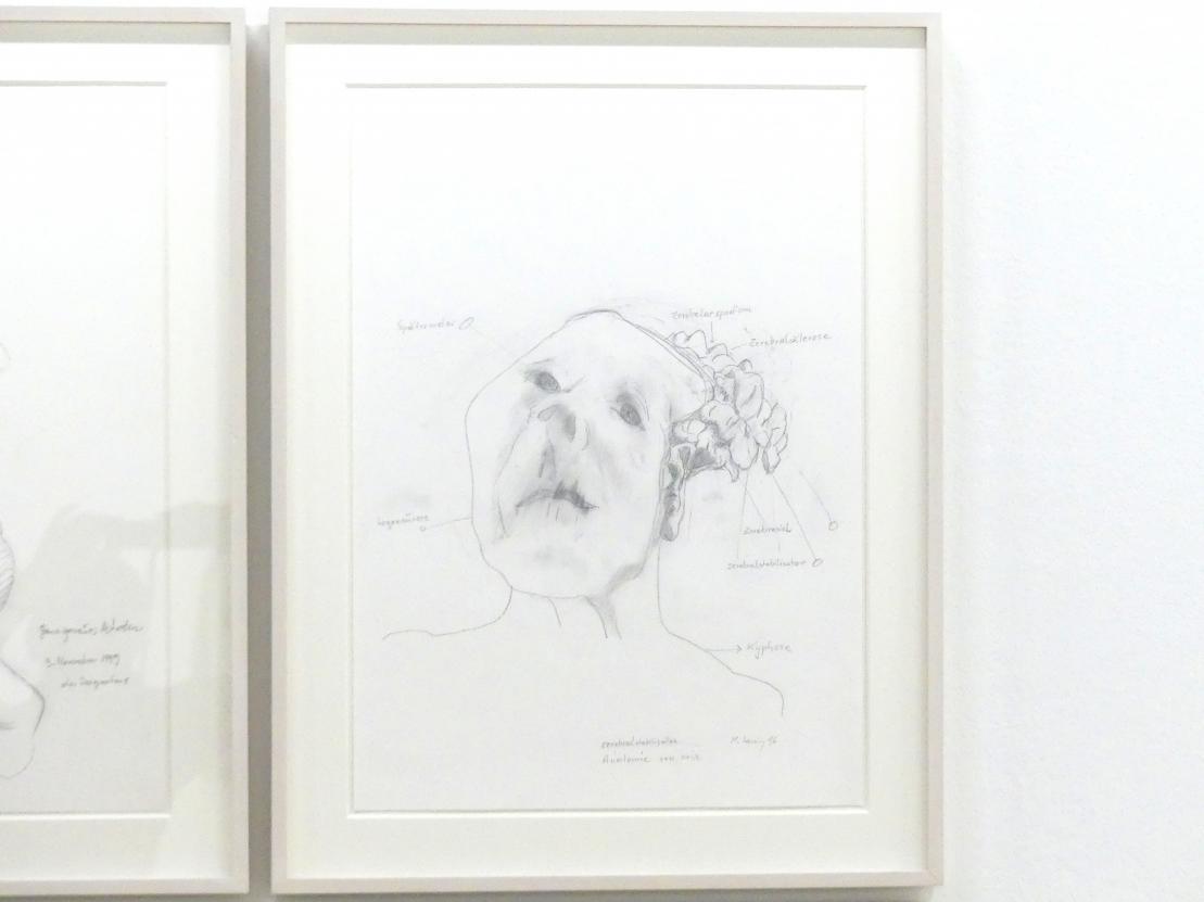 Maria Lassnig: Cerebralstabilisator / Anatomie von mir, 1996