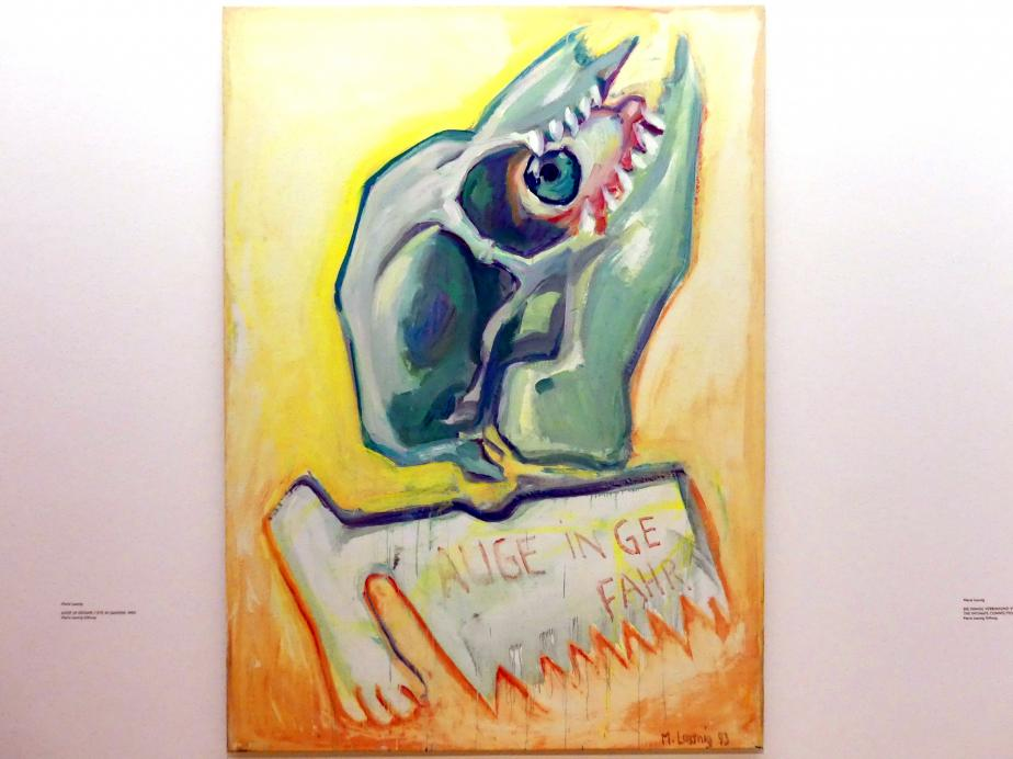 Maria Lassnig: Auge in Gefahr, 1993