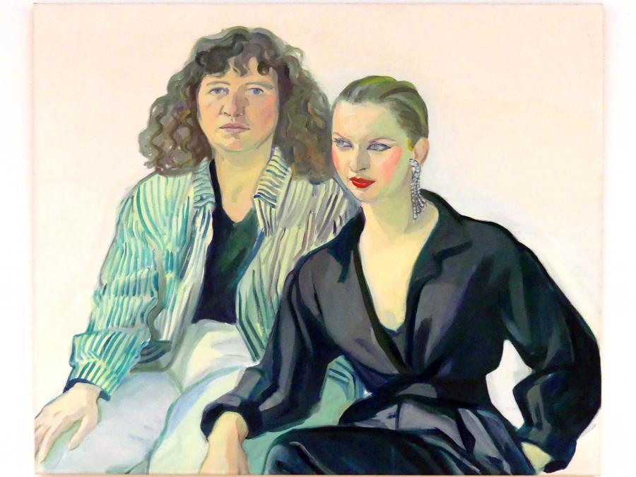 Maria Lassnig: Portrait Ulrike Ottinger und Tabea Blumenschein, 1978