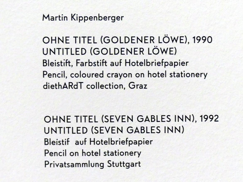 Martin Kippenberger: Ohne Titel (Goldener Löwe), 1990