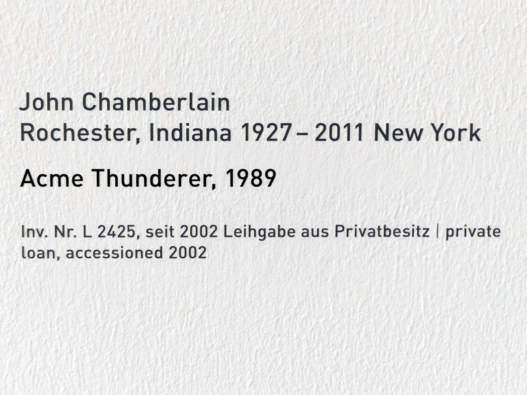 John Chamberlain: Acme Thunderer, 1989
