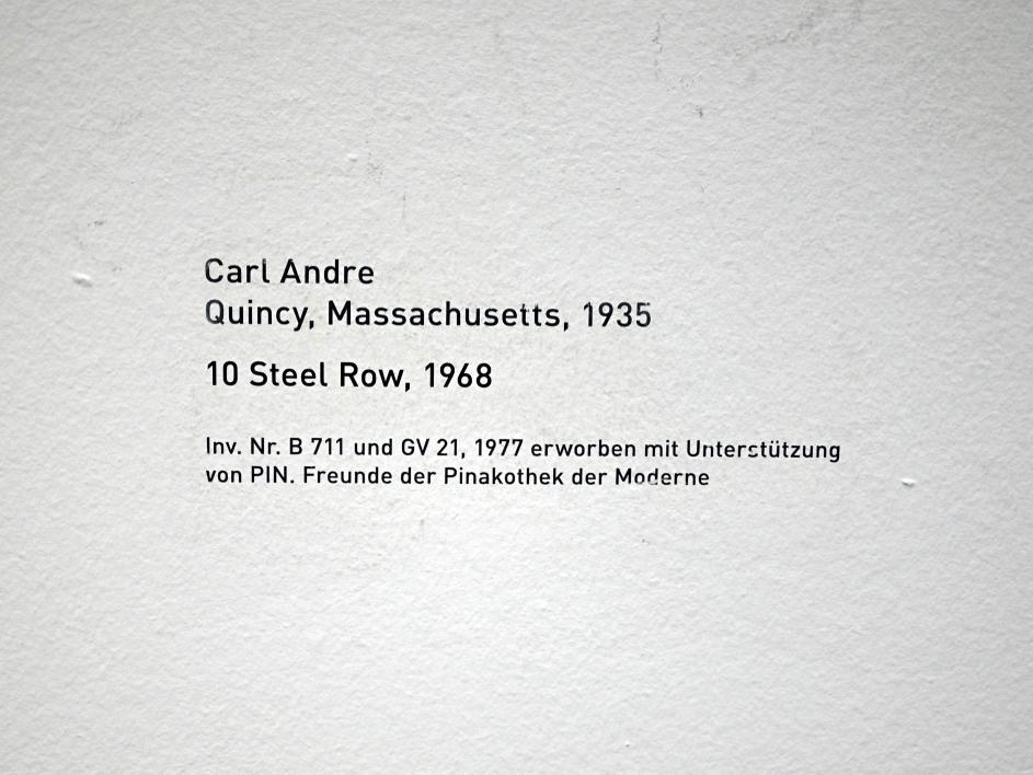 Carl Andre: 10 Steel Row, 1968, Bild 5/5
