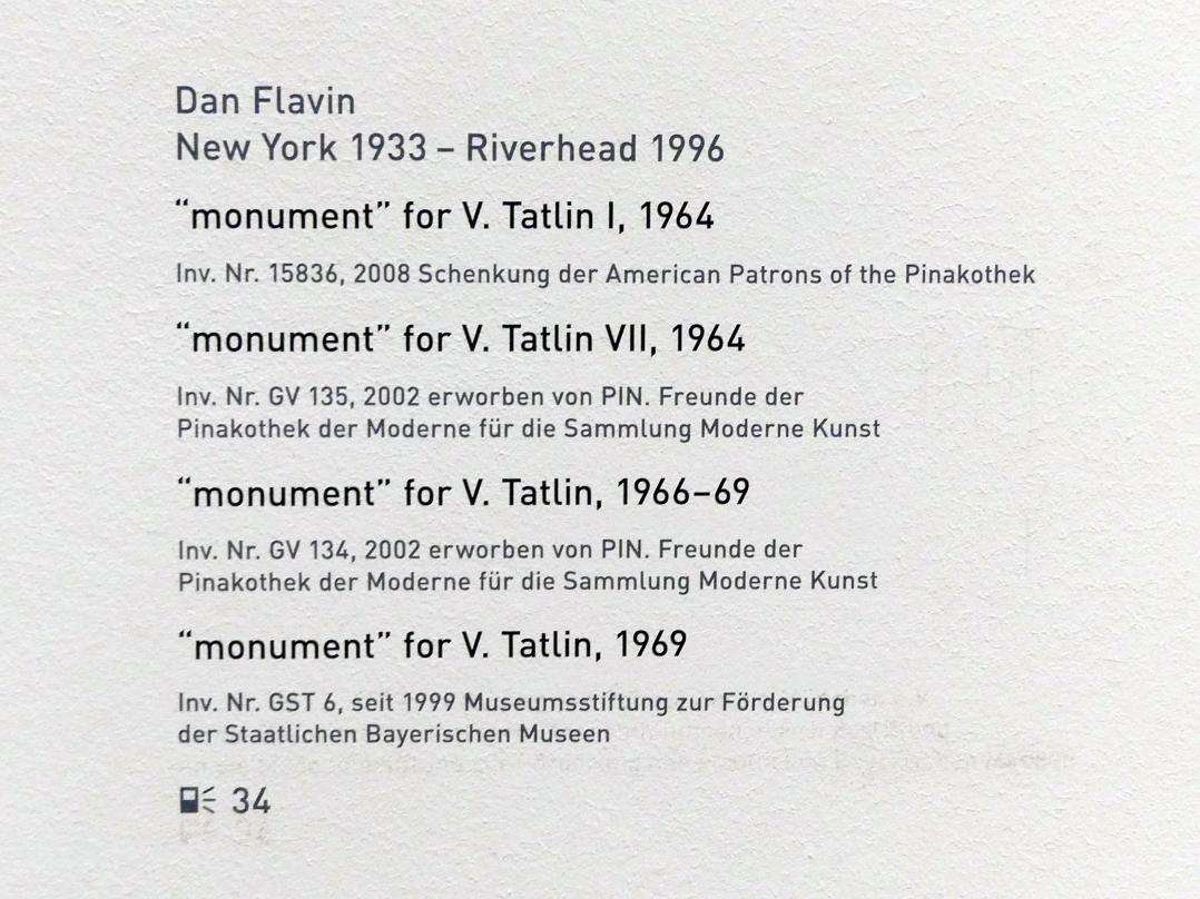 """Dan Flavin: """"monument"""" for V. Tatlin VII, 1964"""