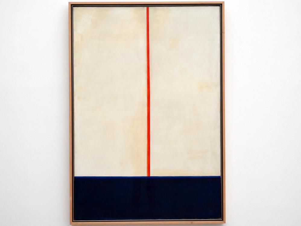 Blinky Palermo ( Peter Heisterkamp): Komposition Blau-Rot auf Weiß, 1965