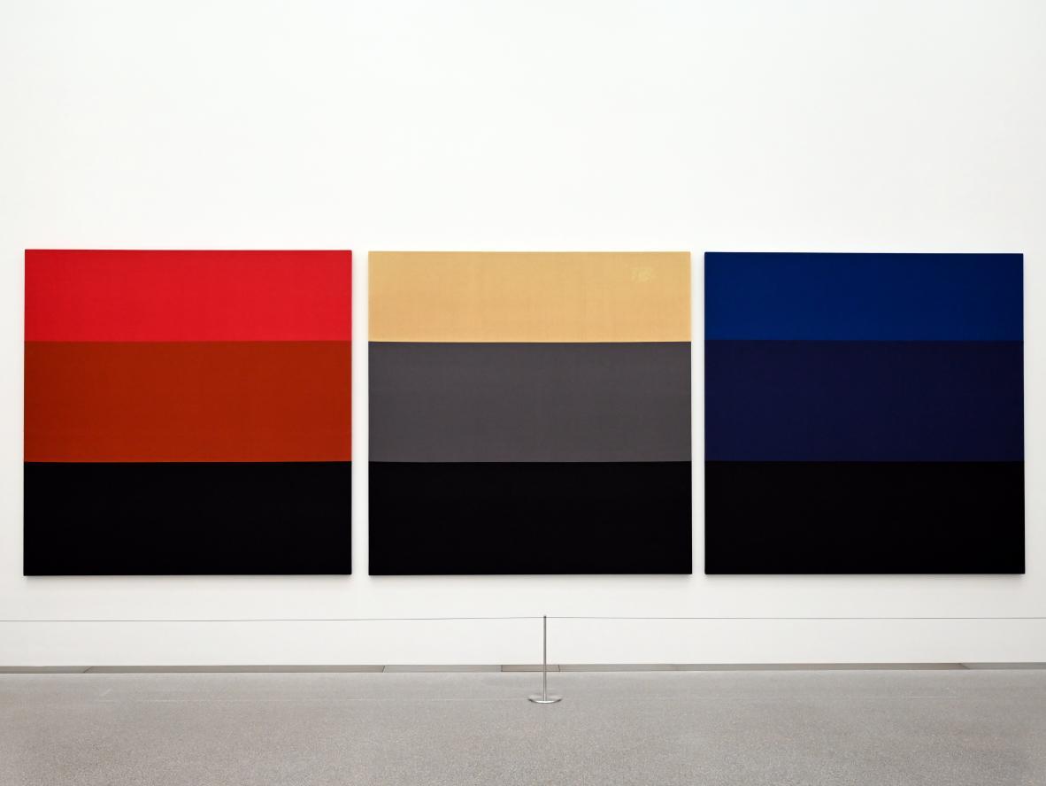 Blinky Palermo ( Peter Heisterkamp): Triptychon, 1972