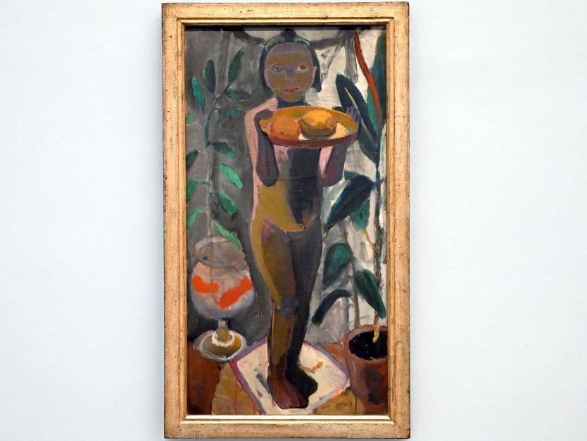 Paula Modersohn-Becker: Stehender Kinderakt mit Goldfischglas, 1906 - 1907