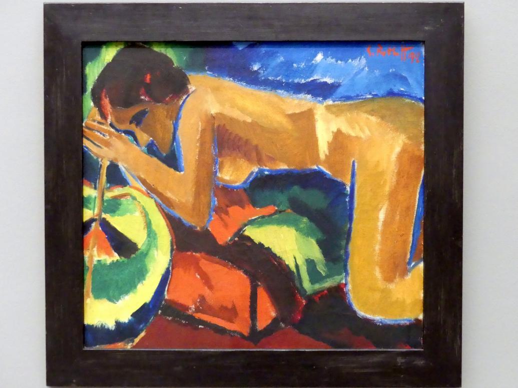 Karl Schmidt-Rottluff: Ruhende Frau, 1912