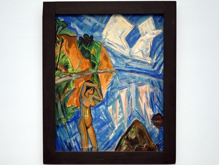 Erich Heckel: Gläserner Tag (Badende im Meer), 1913