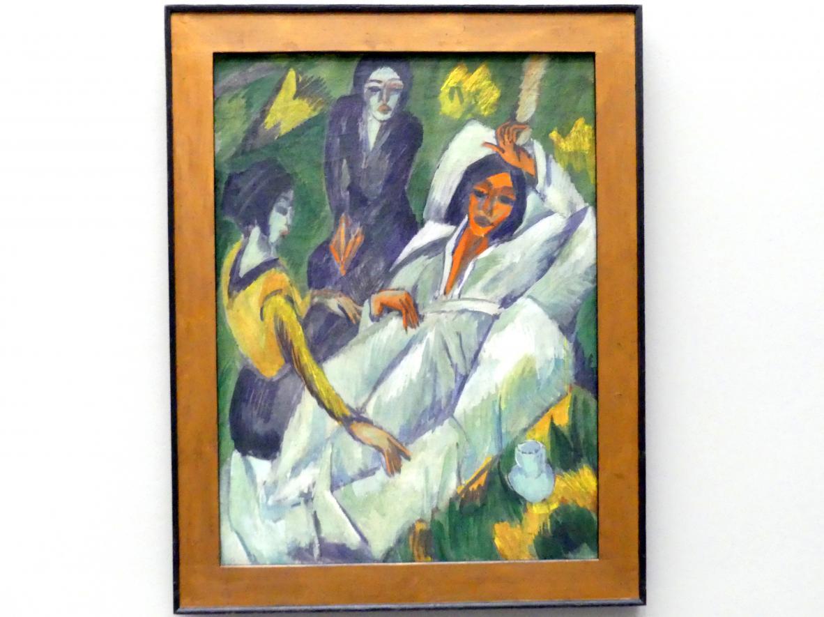 Ernst Ludwig Kirchner: Frauen beim Tee (Die Kranke), 1914