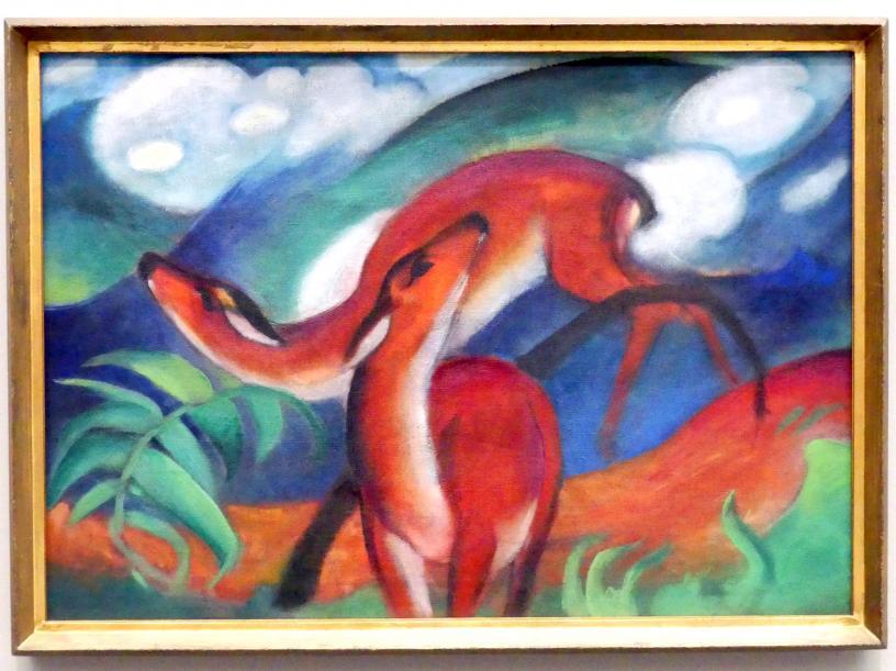 Franz Marc: Rote Rehe II, 1912