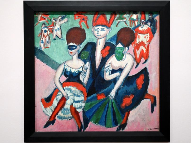 Ernst Ludwig Kirchner: Maskenball (Masken auf der Straße), 1910