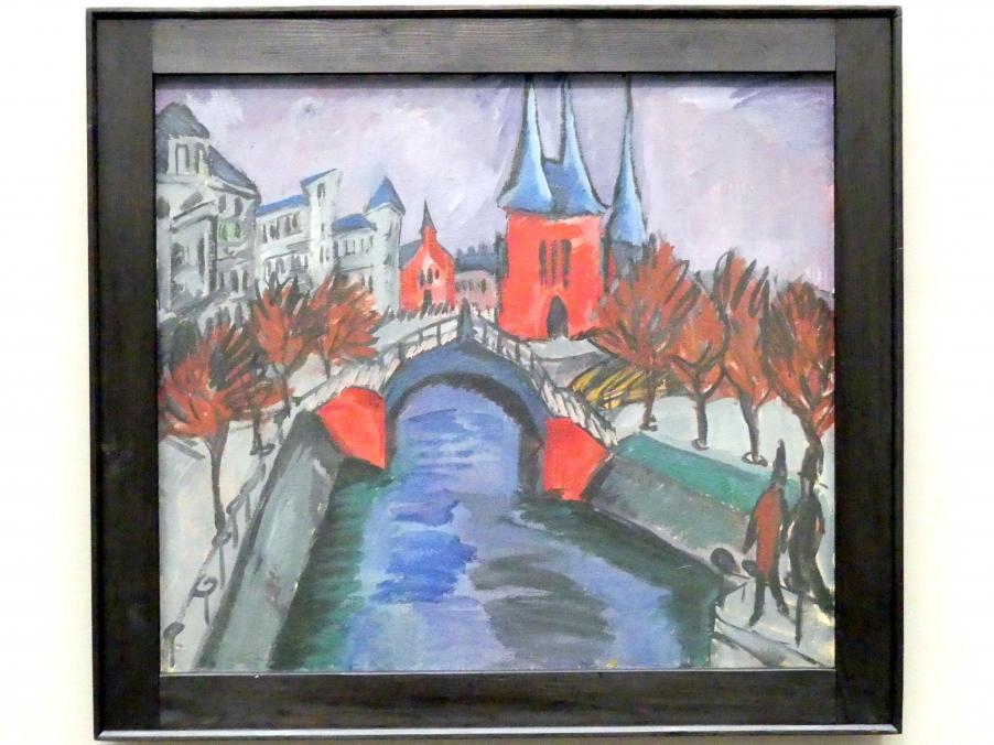 Ernst Ludwig Kirchner: Rotes Elisabethufer, Berlin (Kanal mit Brücke), 1913