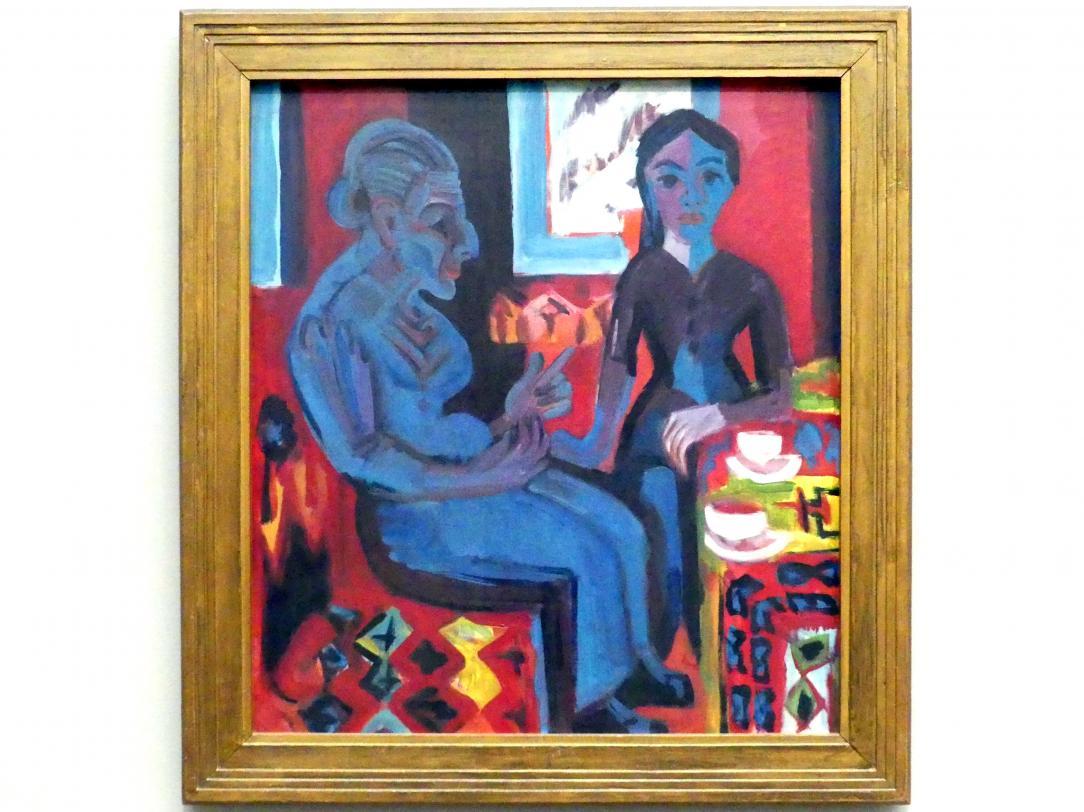 Ernst Ludwig Kirchner: Bäuerin mit Kind (Märchenerzählerin), 1922