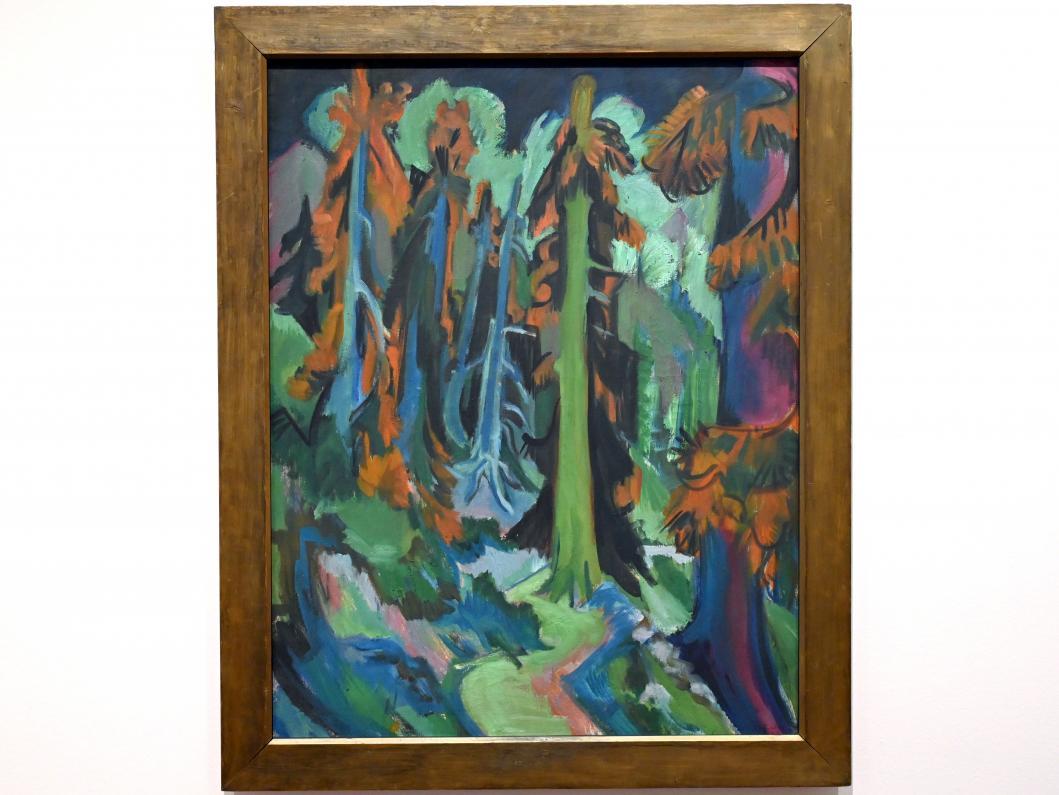 Ernst Ludwig Kirchner: Wettertannen (Bergwaldweg, Bergwaldstämme), 1919