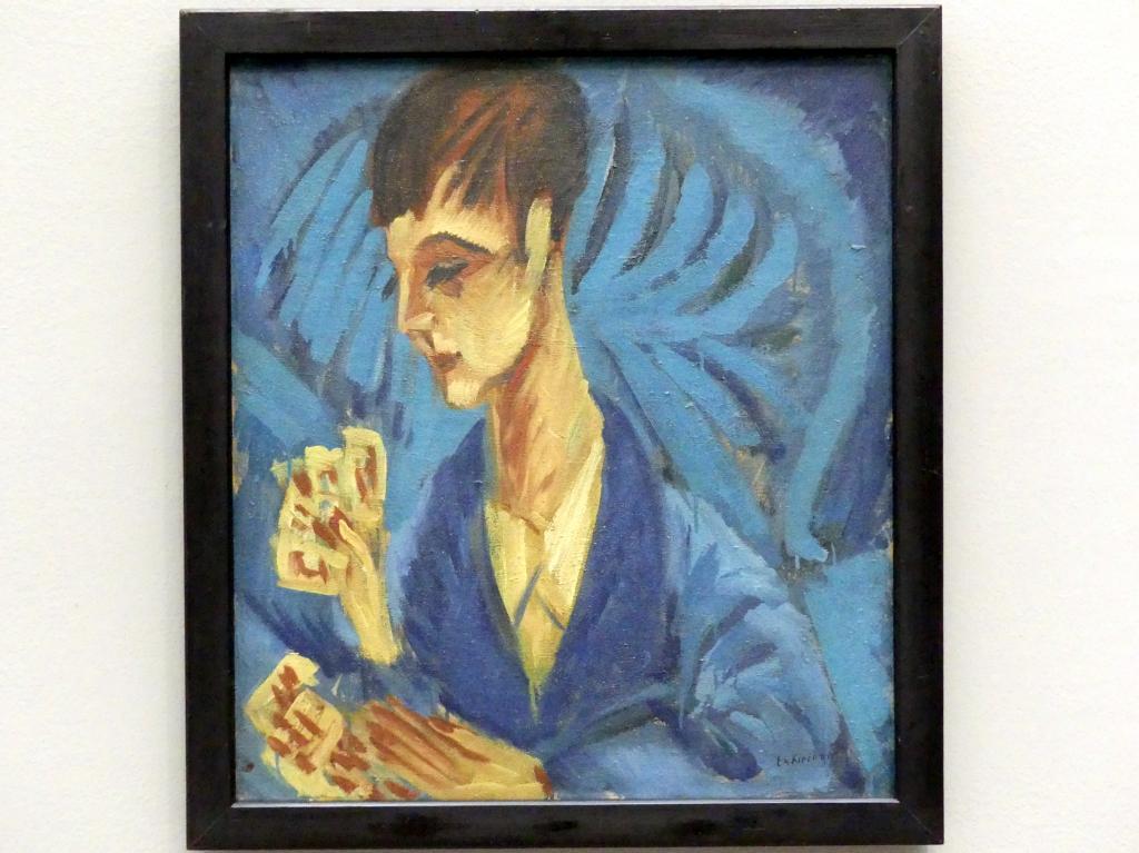 Ernst Ludwig Kirchner: Kartenspielender Knabe (Der Sohn Hardt), 1914 - 1915
