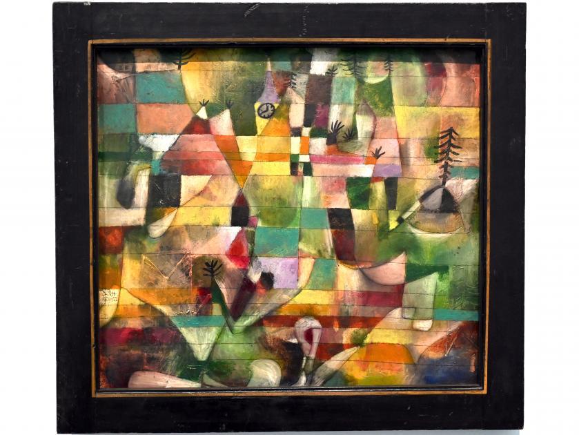 Paul Klee: Landschaft mit dem gelben Kirchturm, 1920