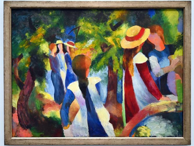 August Macke: Mädchen unter Bäumen, 1914