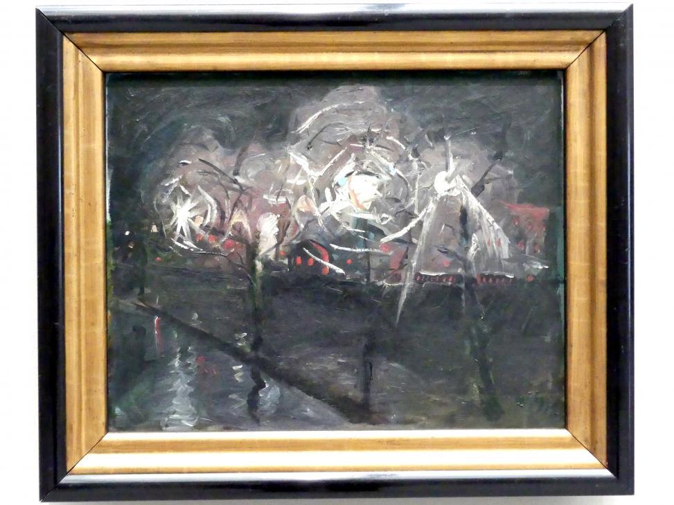 Walter Gramatté: Landschaft mit Laternen (Nachtlandschaft), 1918