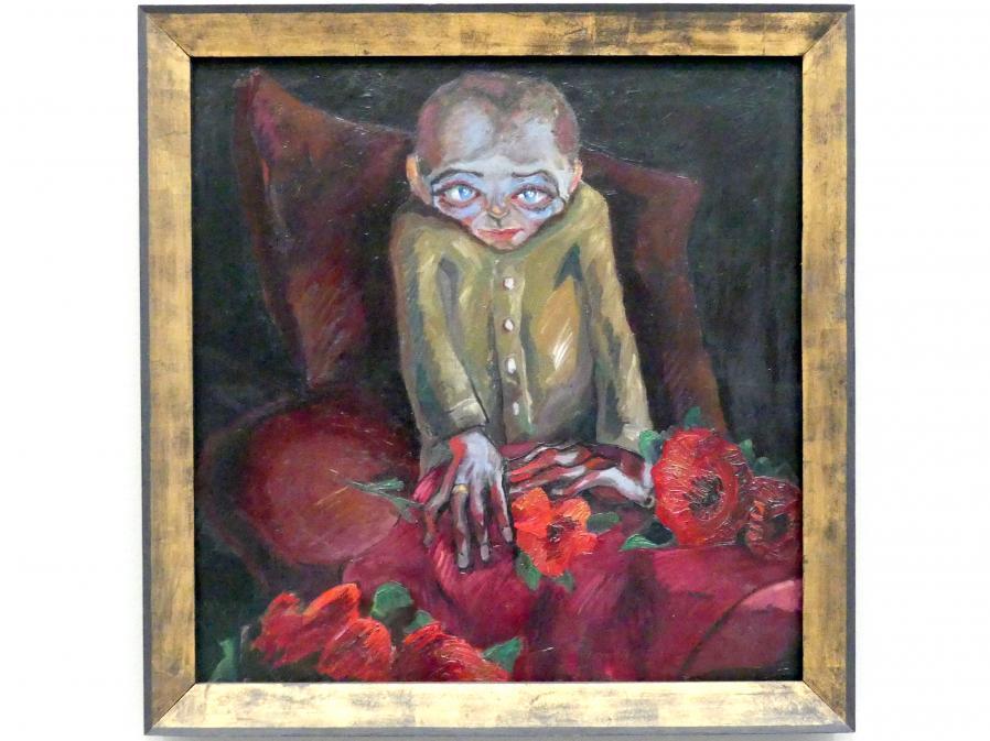 Walter Gramatté: Der Kranke mit den Blumen, 1918