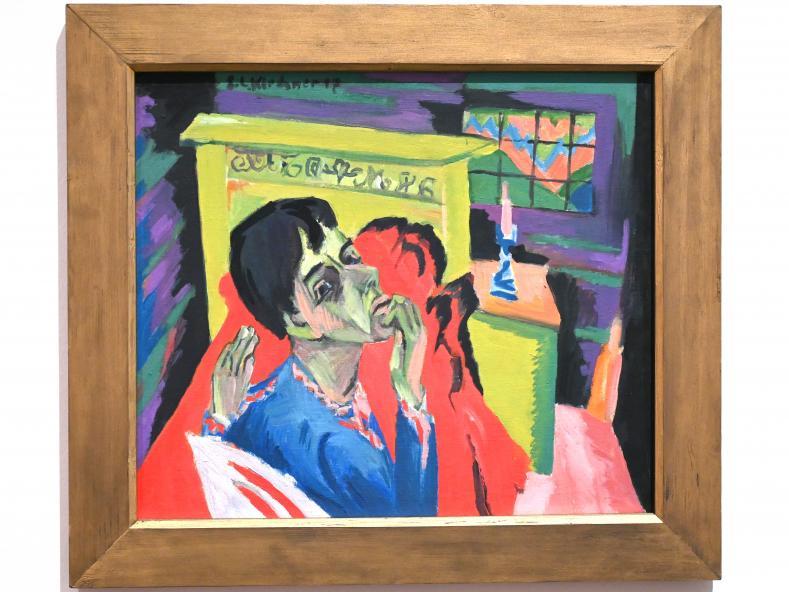 Ernst Ludwig Kirchner: Selbstbildnis als Kranker (Der Kranke), 1918 - 1930