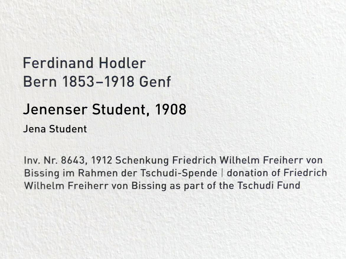 Ferdinand Hodler: Jenenser Student, 1908, Bild 2/4